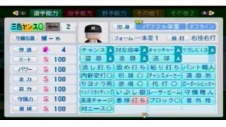 【パワプロ2014】基礎カンスト+青緑特能全部+サブポジ全部野手育成