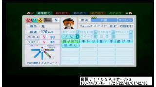 【パワプロ2014】170SA+オールS二刀流選手育成