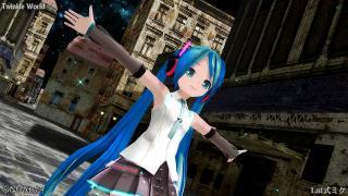 【MMD】Twinkle World (Lat式初音ミク改変V4X風モデル) [1080p]
