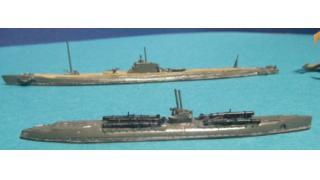 完成品155●日本潜水艦 伊370 伊68 1/700●ウォーターラインシリーズNO.73(2016年 6月上旬制作)●