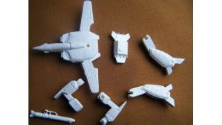 模型日記●ガウォークVF-1J 旧キット 途中写真 単色