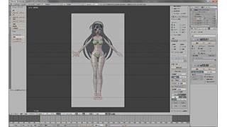 「東北ずん子で覚える!アニメキャラクターモデリング」を見ながら素体のモデリング中