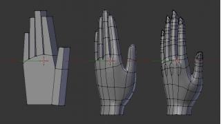 【Blender】ずんこ本をお手本に手と足のモデリング