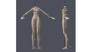【Blender】モデリング/ボーン/ウェイト 自分用メモ