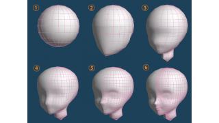 メタセコの基本図形から頭を作ってみた