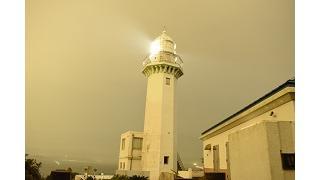 夜の灯台写真