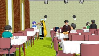 レストランに集う客たち