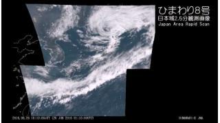 【梅雨の晴れ間】気象衛星ひまわり8号 日本域2.5分観測画像 - 2016.06.26