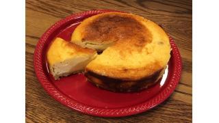 チーズケーキ断面と、配信外カルボナーラ