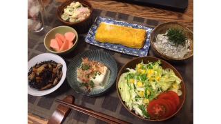 7月28日 残り物整理、小鉢料理7品