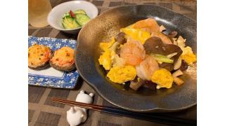 10月20日 きくらげと海老の卵炒め、きゅうりのピリ辛漬け