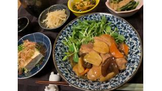 10月21日 鶏ももと揚げにんにくの醤油煮