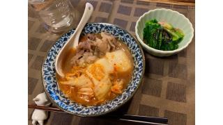 1月22日 餅キムチ、ほうれん草、牛ごぼう(作り置き)