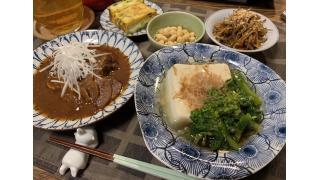 3月26日 きんぴらごぼう、菜の花と豆腐のあんかけ、サバの味噌煮