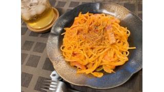 5月7日 トマトクリームパスタ、塩豚とカブのスープ