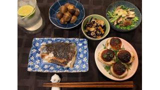 10月20日 さごしの西京焼き、焼き栗、山芋と明太子のグリル、など。