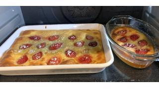1月23日 豚の角煮、苺のクラフティ