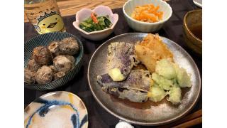 4月2日 そら豆、たけのこ、茄子の天ぷら