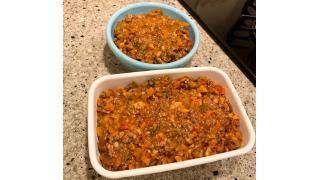 4月9日 ミートソース作り置き、トマト茄子ベーコンのスパゲッティ