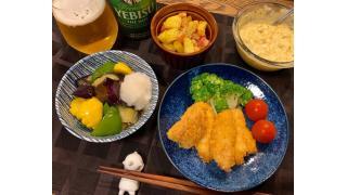 6月11日 夏野菜の揚げびたし、白身フライタルタルソース