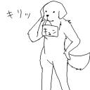 犬の遠吠えヾ(  ノU'ω')ノ<ワ...ワオ...。
