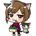 猫草@の草