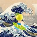 Velga on the wave