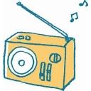深夜のラジオ放送