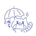 六月小雨の青い傘