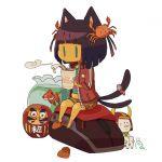 黒猫まねー