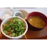 ねぎ玉豚丼とん汁サラダセット