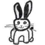 モノクロ兎