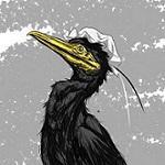 白黒鵜鷺(しろくろうさぎ)
