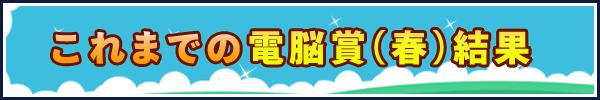 これまでの電脳賞(春) 結果